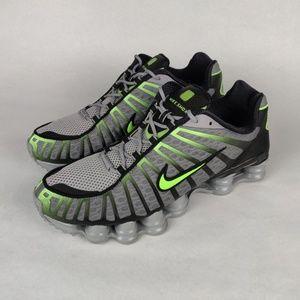 NIKE Shox TL Wolf Grey Lime Blast Shoes 10.5